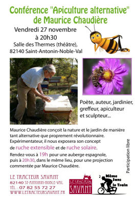 Conf rence le 27 novembre 2015 st antonin noble val for Jardin noble val 2015